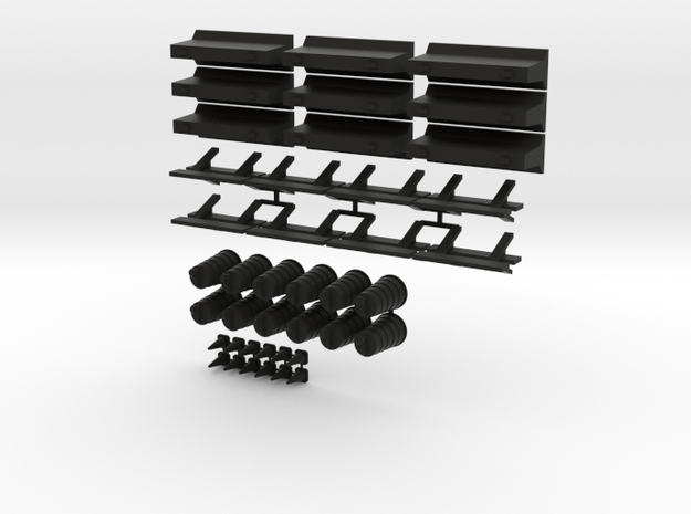 15mm Traffic Cones and Barriers 3d printed