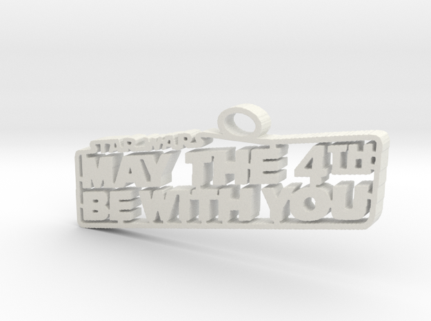 may the 4th in White Natural Versatile Plastic