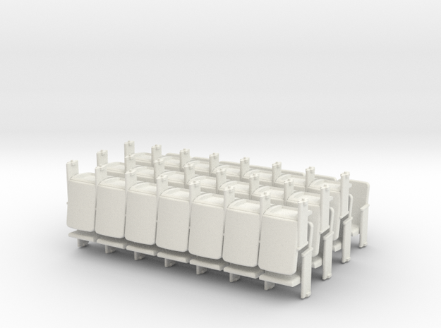 Theater Seats Ver E O Scale 7x7 in White Strong & Flexible