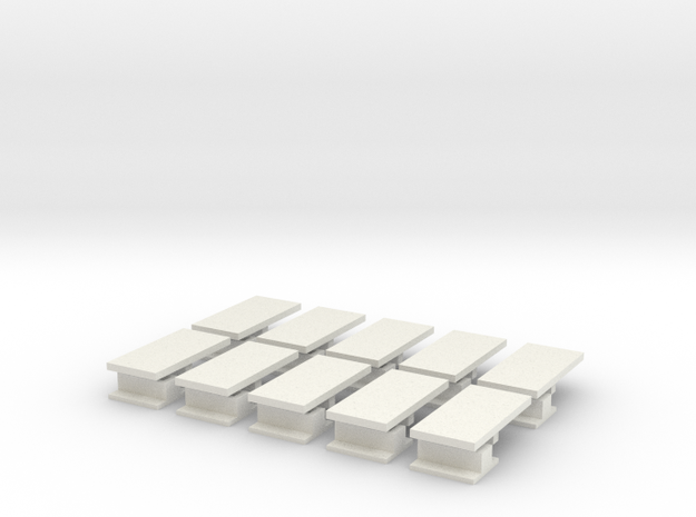 iPad Mini Abacus Case Plugs 10x in White Strong & Flexible