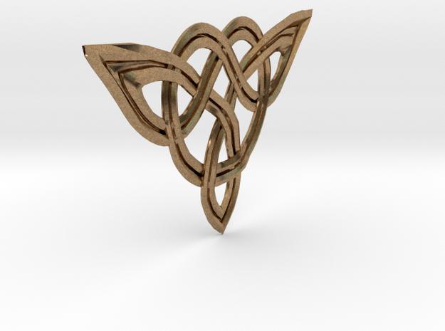 Triskele pendant in Natural Brass