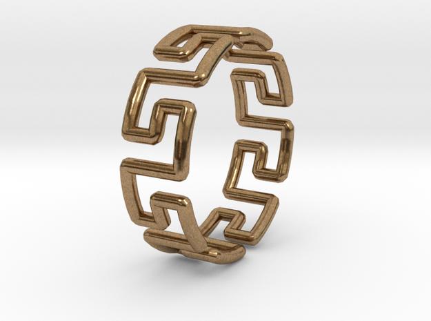 Greek Ring 3d printed Model wearing the Greek ring