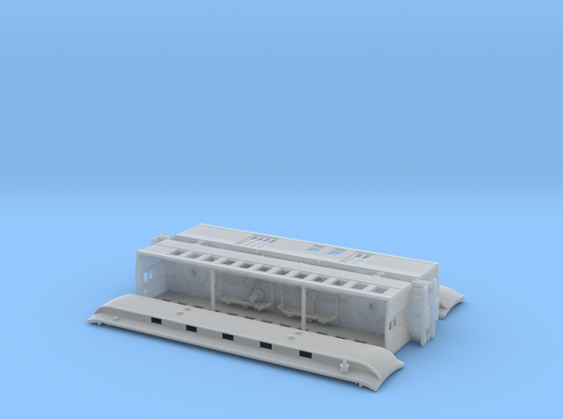 Nn3 Chili Line Train in Smooth Fine Detail Plastic