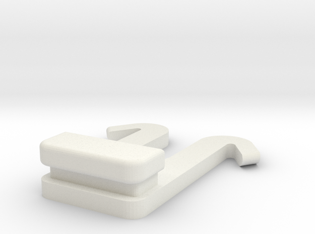 MAGCLIP for Molle Gear in White Natural Versatile Plastic