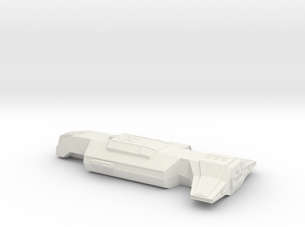 Anchient Ship in White Natural Versatile Plastic