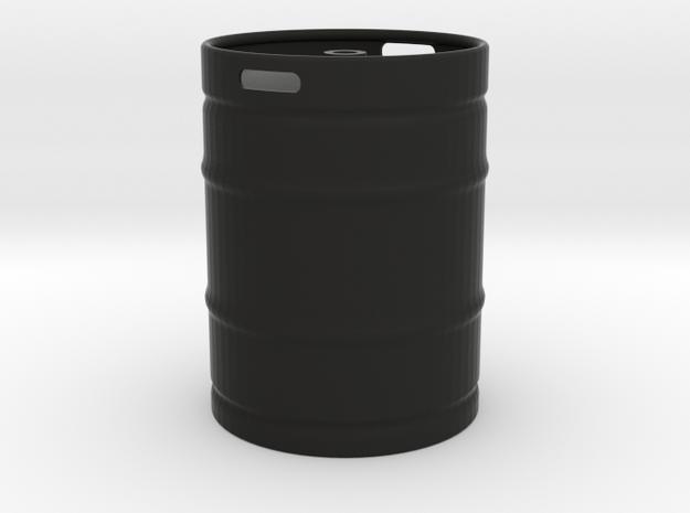Keg in Black Natural Versatile Plastic