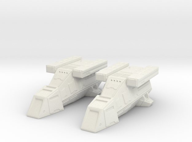 2x DX9 Stormtrooper Transport in White Natural Versatile Plastic