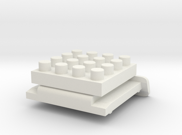Nanobricks Hotshoe 4x4 in White Natural Versatile Plastic