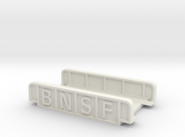 BNSF 55mm SINGLE TRACK in White Natural Versatile Plastic