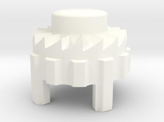 Bugaboo Gen 1 Brake Lever Button in White Processed Versatile Plastic