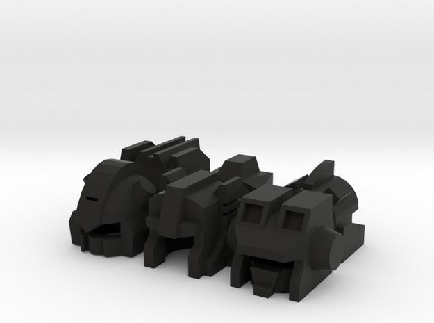 Robo Helmets: Six Throttlers (11mm diameter) 3d printed