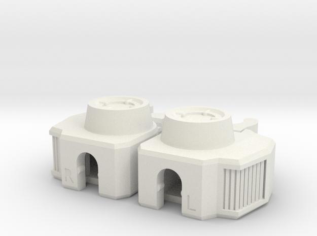 MC-KC01L Knee Connectors Lite in White Natural Versatile Plastic