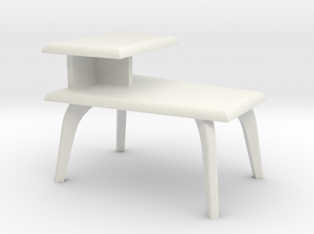 1:24 Moderne Wedge Side Table in White Strong & Flexible