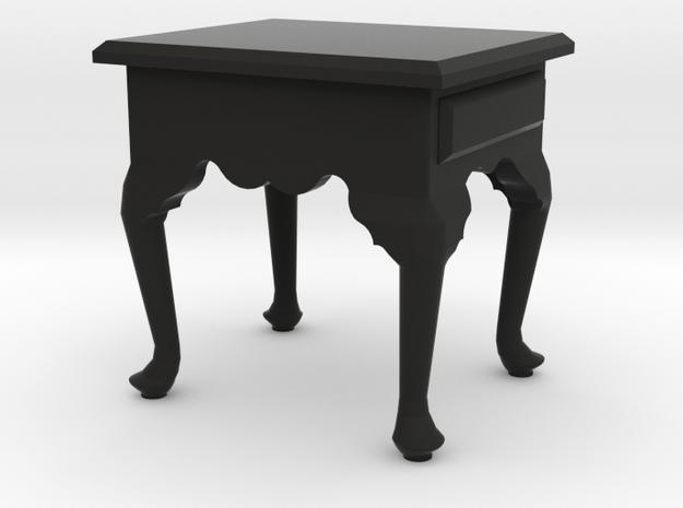 1:24 Queen Anne Tall End Table 3d printed