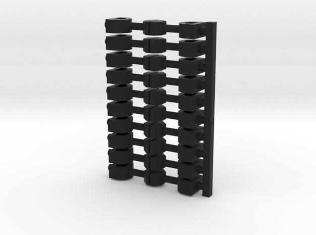 10x Scharfenberg(11) in Black Natural Versatile Plastic