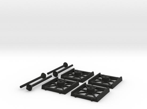 Bases Cheap 4 Fighter in Black Natural Versatile Plastic