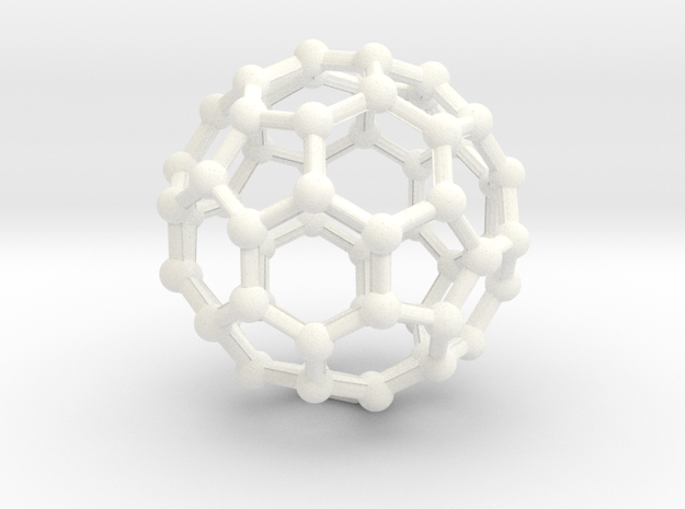 Buckyball Large in White Strong & Flexible Polished