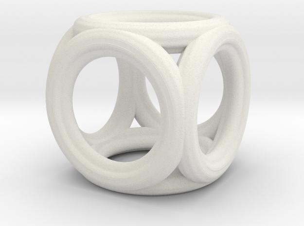 Mini cube pendant 3d printed