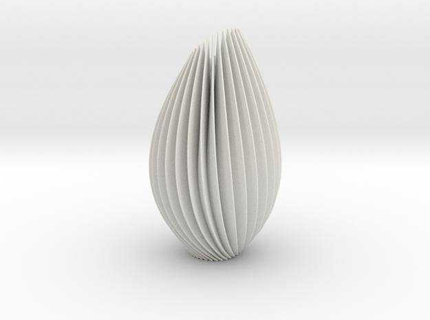 Twist Lamp in White Natural Versatile Plastic