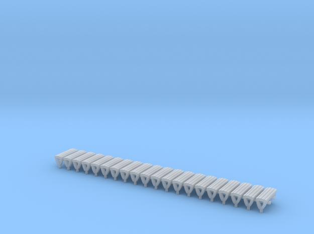 N Gauge Bench Seat Kit Type 1 in Smooth Fine Detail Plastic