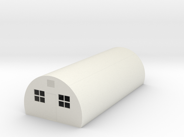 Nissen Hut 4mm Scale in White Natural Versatile Plastic