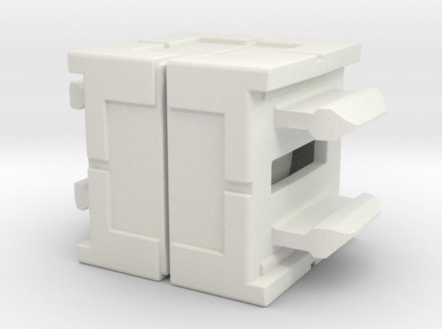 Rokenbok Axle Block in White Strong & Flexible