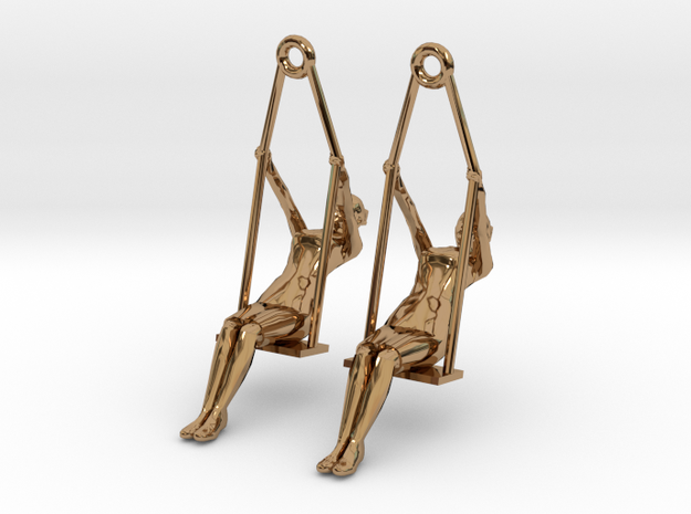 "earrings ""Swing girl"" 3d printed"