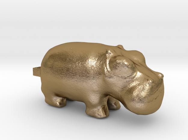 3000 BC Hippo Small Pendant 3d printed