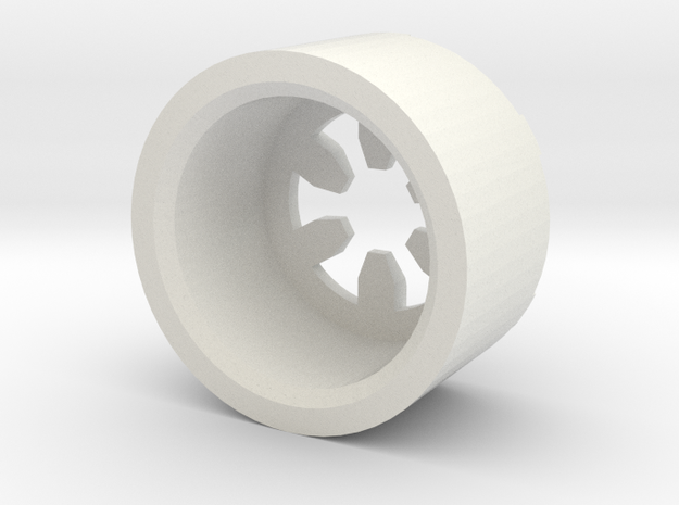MBPI-B13-HEX in White Strong & Flexible