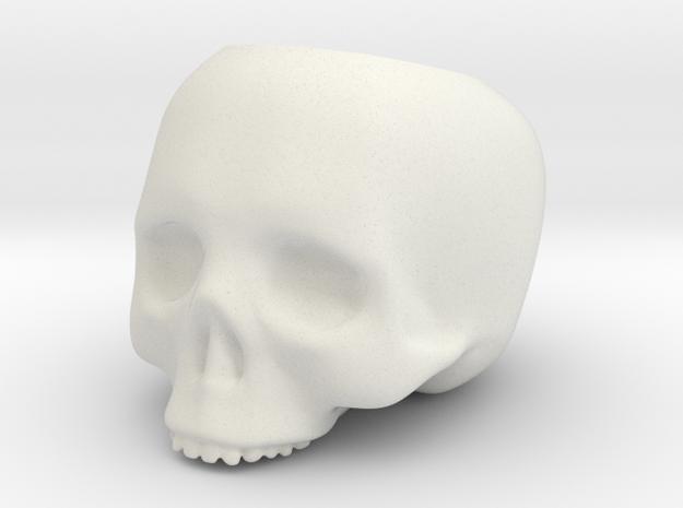 Skull Pot V3 - H80MM in White Natural Versatile Plastic