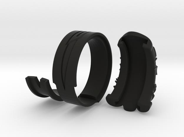 Vambrace Ring 7 in Black Natural Versatile Plastic