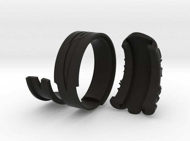 Vambrace Ring 7.5 in Black Natural Versatile Plastic