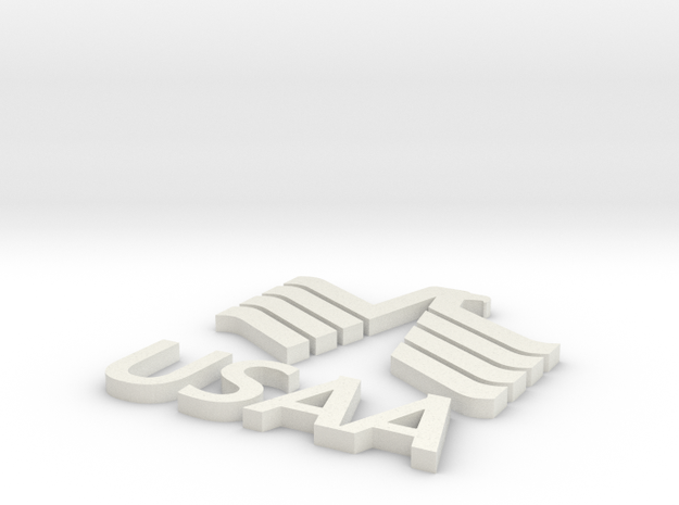 USAA-no base in White Natural Versatile Plastic