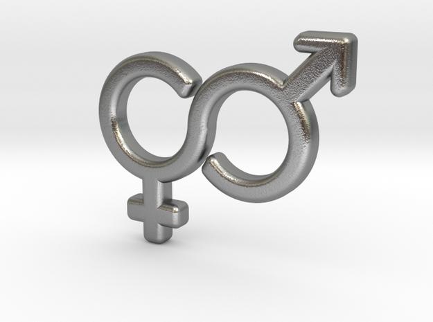 Gender Equality Pendant 3d printed