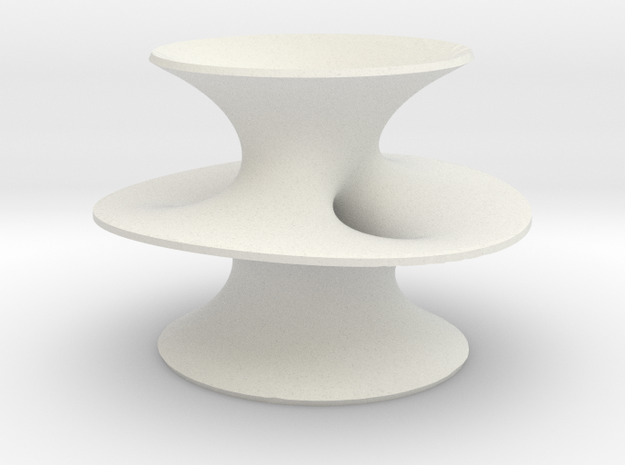 Costa's Minimal Surface in White Natural Versatile Plastic