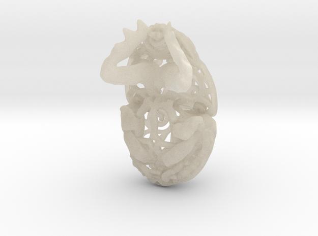 Dung Beetle (Scarab) Filagree Pendant 2cm 3d printed