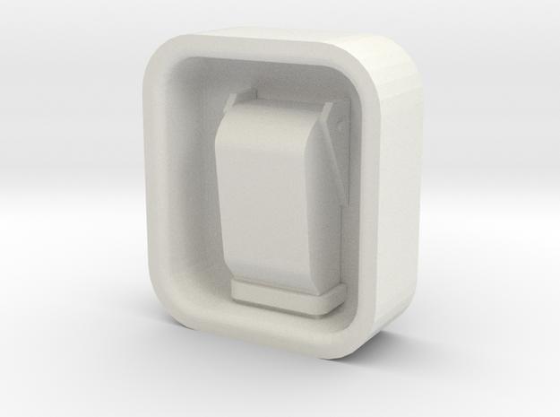 Latches in White Natural Versatile Plastic