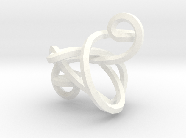 Twisted Cleff Pendant 3d printed