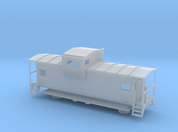 Widevision Caboose - Nscale in Smooth Fine Detail Plastic