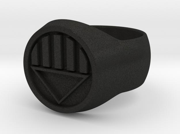 Black Lantern Ring Size V 3d printed