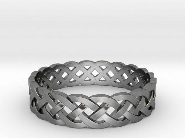 Rohkea Bold Celtic Knot Size 9.5 in Premium Silver