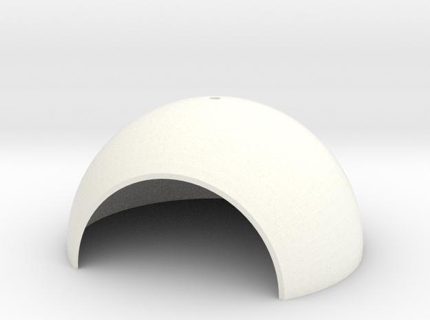 Calve House Round 1/32 in White Processed Versatile Plastic