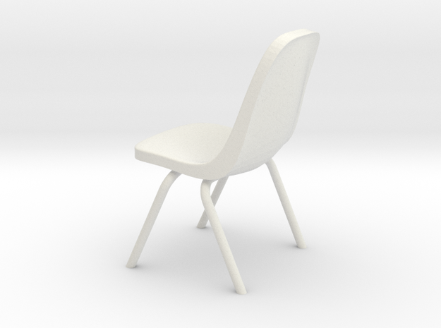 1:24 Plastic Scoop Chair (Not Full Size) 3d printed
