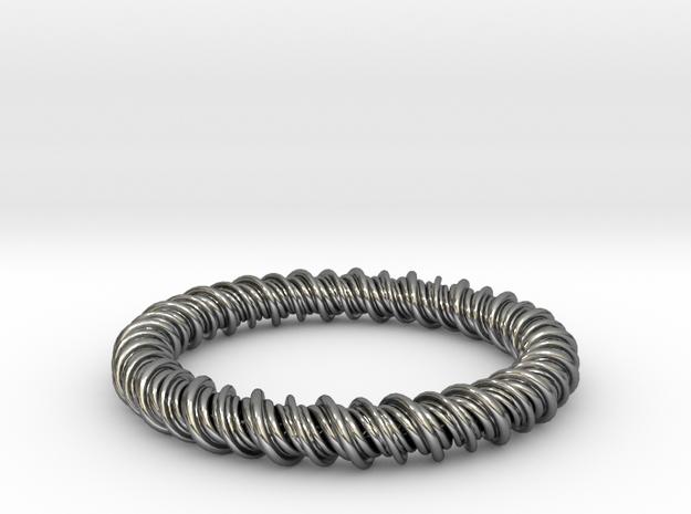 GW3Dfeatures Bracelet C in Premium Silver