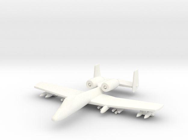 1/285 Scale (6mm) A-10 Warthog  3d printed