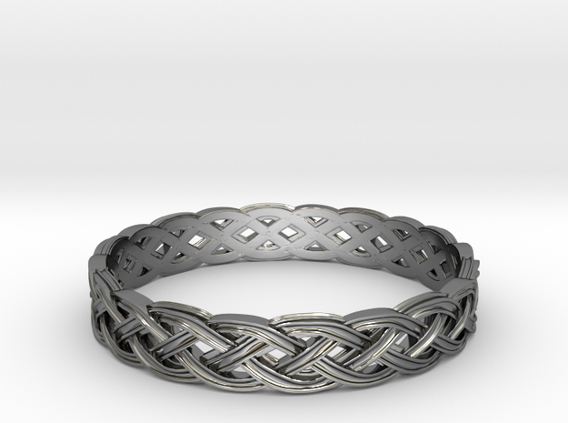 Hieno Delicate Celtic Knot Size 11 in Fine Detail Polished Silver