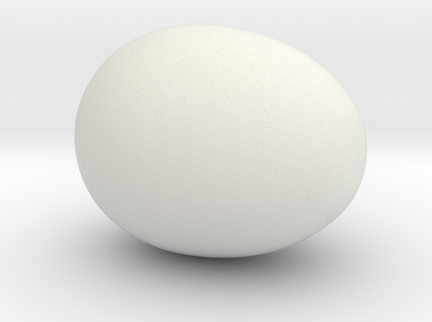 Egg7 Fullegg in White Natural Versatile Plastic