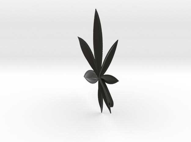 Cannabis Charm 3d printed