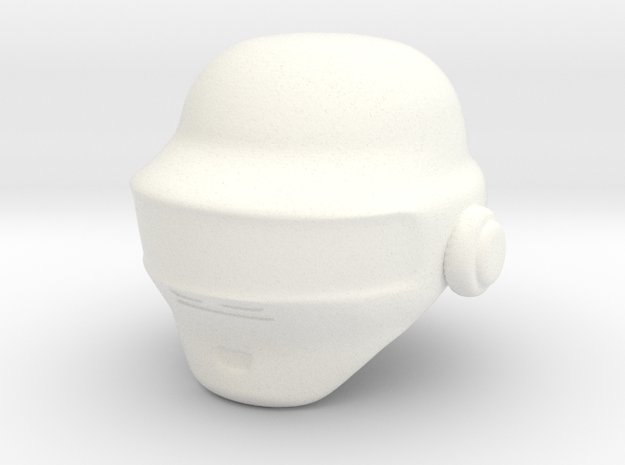 Punk Helmet (prototype) in White Processed Versatile Plastic