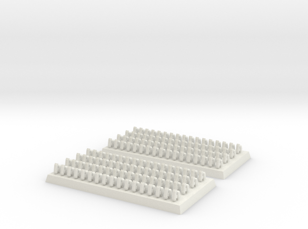 2mm DBA Bows 40x20mm base in White Natural Versatile Plastic